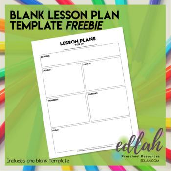 basic lesson plan template no pictures by melissa schaper tpt. Black Bedroom Furniture Sets. Home Design Ideas