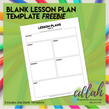 lesson plan template editable preschool teaching resources