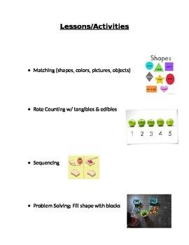 Basic Lesson ideas for Pre-K