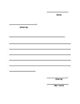 Basic Letter Writing Template