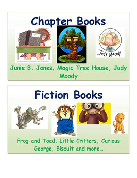 Basic Library Tub Labels for First Grade