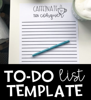 Basic Lined To Do List Template
