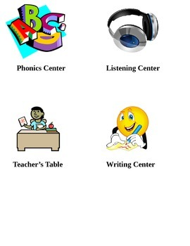 Basic Literacy Center Icons