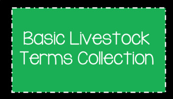 Basic Livestock Terms Collection