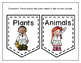 Basic Living Needs of Plants and Animals Pocket Sort