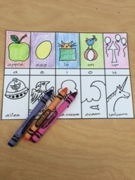 Basic Long and Short Vowel Chart