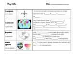 Basic Map Skills Vocabulary for ESL
