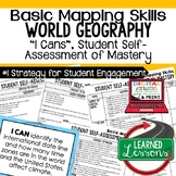 Basic Mapping Skills I Cans, Self-Assessment of Mastery, Basic Mapping Posters