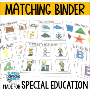 Basic Skills Matching Binder for Special Education