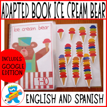 Adapted Book, numbers to 10, Digital version included. English and Spanish
