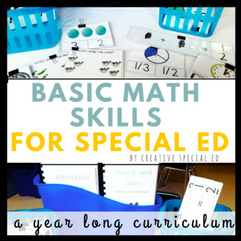 Basic Math Curriculum for Special Education Year Long Bundle
