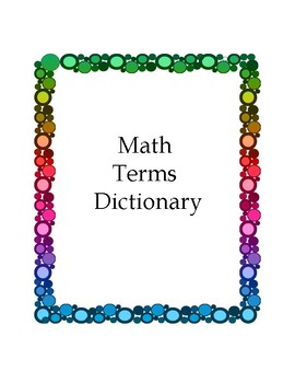 Basic Math Dictionary