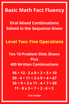 Basic Math Fact Fluency with Mixed Combinations - Level Two with Five Operations
