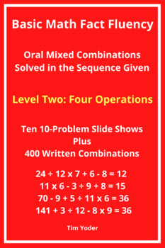 Basic Math Fact Fluency with Mixed Combinations - Level Two with Four Operations