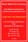 Basic Math Fact Fluency with Mixed Combinations - Level Two with Two Operations