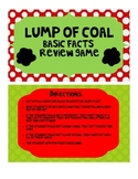Basic Math Facts Lump of Coal Christmas Game