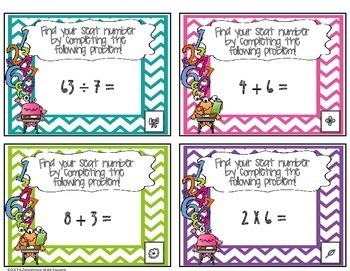 Basic Math Facts Math Seatfinder {FREEBIE}