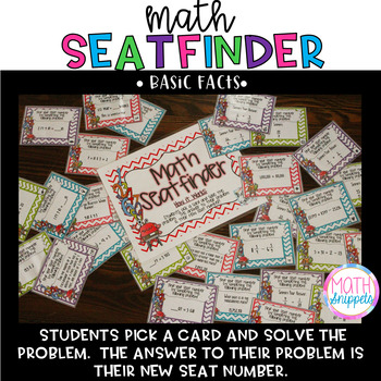 Basic Math Facts Math Seatfinder {FREEBIE}