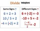 Basic Math Facts - Multiply Divide Integers