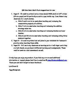 Basic Math Facts QR Code