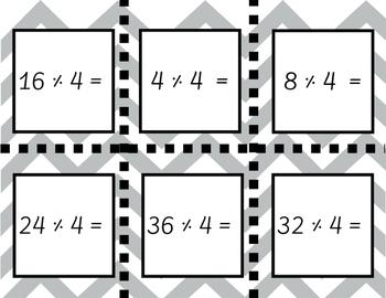Basic Math Facts Task Cards
