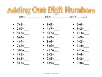 Basic Math Facts to 20