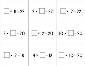 Basic Math Flash Cards - Advanced Multiplication Set