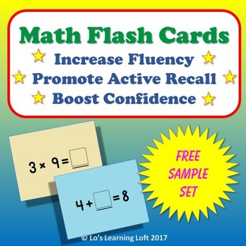 Basic Math Flash Cards - Free Sample!
