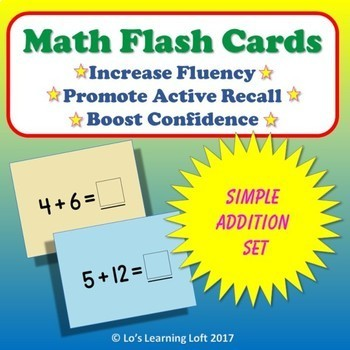 Basic Math Flash Cards - Simple Addition Set