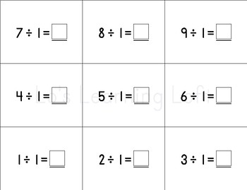 Basic Math Flash Cards - Simple Division Set