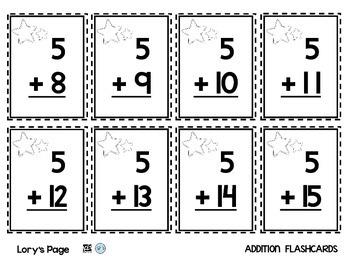 Flashcards Basic Math  FREEBIE