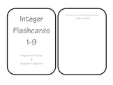 Integer Flashcards - Printable!