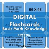 Basic Math Knowledge Digi Flashcards