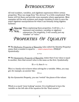 Basic Math: Lesson 4 - Properties of Numbers