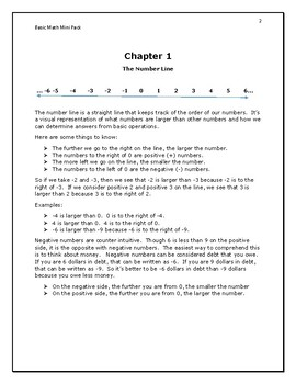 Basic Math Mini Pack
