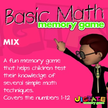 Basic Math - Mixed Concepts Memory Game