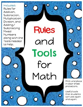Basic Math Operations Rules and Tools