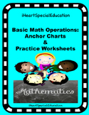 Basic Math Operations Anchor Charts and Activity