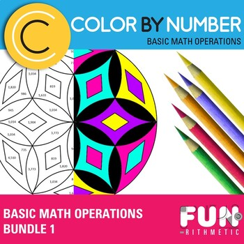 Basic Math Operations Color by Number Bundle 1