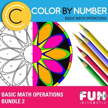 Basic Math Operations Color by Number Bundle 2