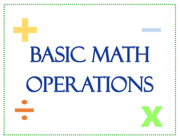 Basic Math Operations Game Board