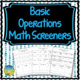 Basic Math Operations Screener Assessment