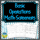 Basic Math Operations Screener Assessment
