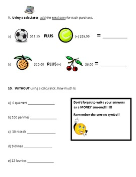 Basic Math Quiz for Grades 2 and 3 by Unique Minds | TpT