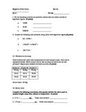 Basic Math Quiz for HS Chemistry