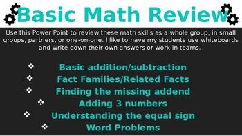 Basic Math Review