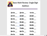 Basic Math Review: Single Digit Addition 2