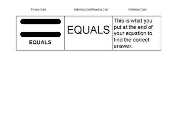 Basic Math Signs Flashcards