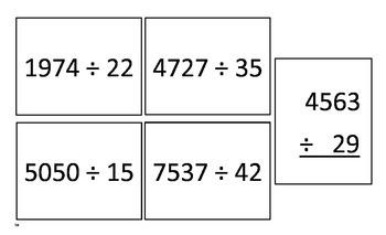 Basic Math Skill Cards (3rd-5th)