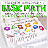 Basic Math Skills Adapted Work Binder® ( for Special Needs )